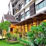 Gartenanlage in Hotel